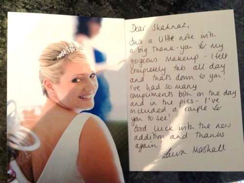 Laura thank you note