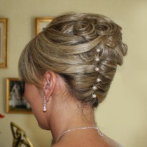 French Twist with curls