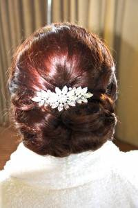 Low chignon and loops